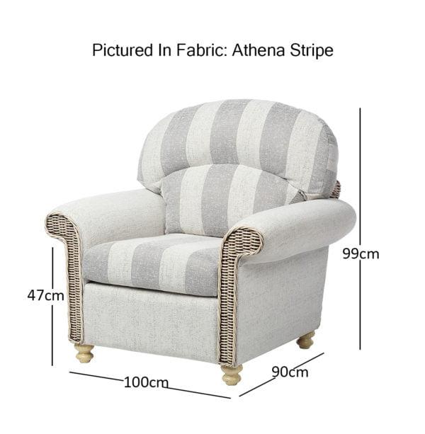 Stamford 7 Chair In Athena Stripe Min Dimensions