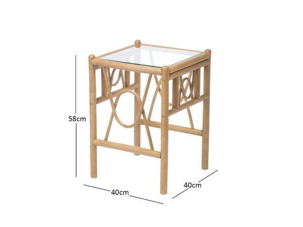 Bali 3 Lamp Table Dimensions
