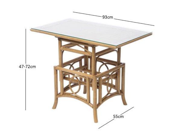 Bali Coffee Table Adjustable Dimensions