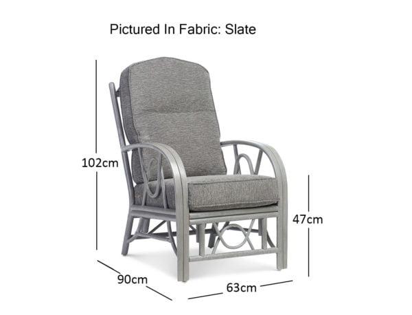 Bali Greywash Slate Chair Dimensions