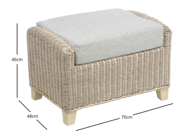 Dijon 3 Footstool In Pebble Dimensions 1