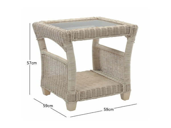 Dijon Natural Side Table Dimensions
