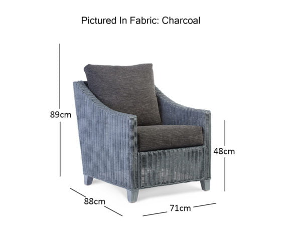 Djon Greywash Chair Dimensions