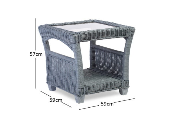 Djon Greywash Lamp Table Dimensions