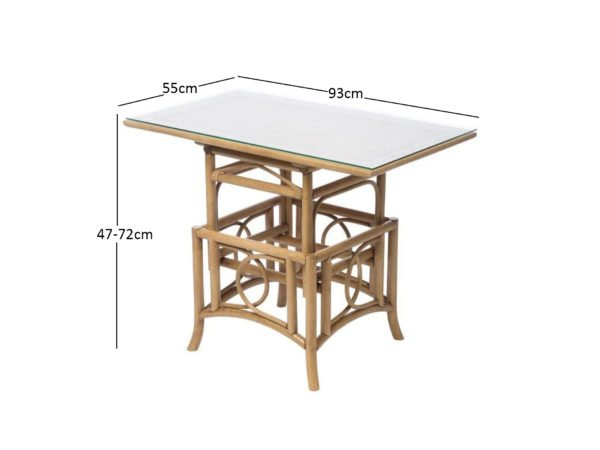 Madrid Adjustable Table Dimensions 1