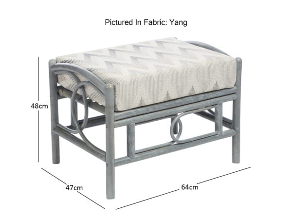 Madrid Grey Footstool In Yang Dimensions