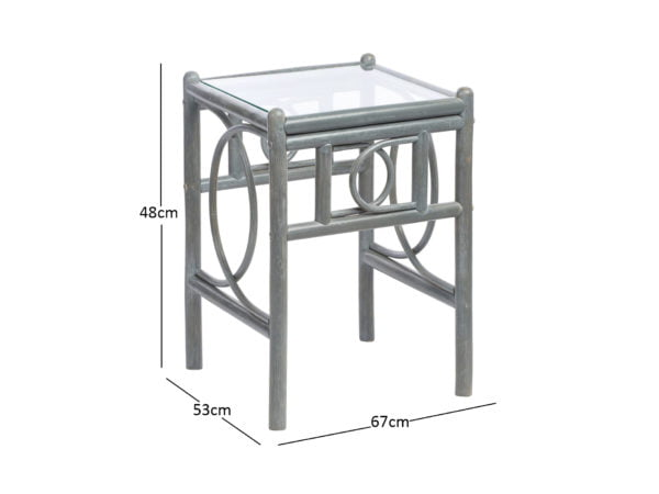 Madrid Grey Lamp Table Dimensions