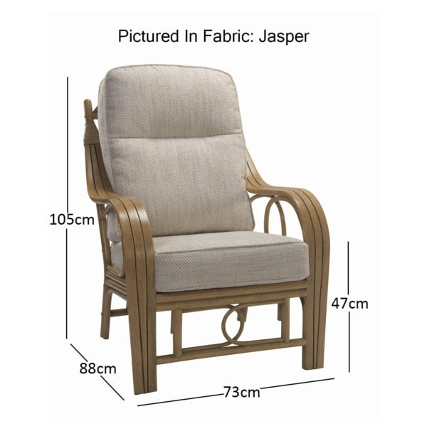 Madrid Light Oak Chair In Jasper 10819 Dimensions