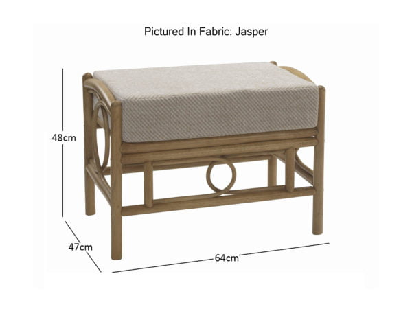 Madrid Light Oak Footstool In Jasper 10829 2 Dimensions