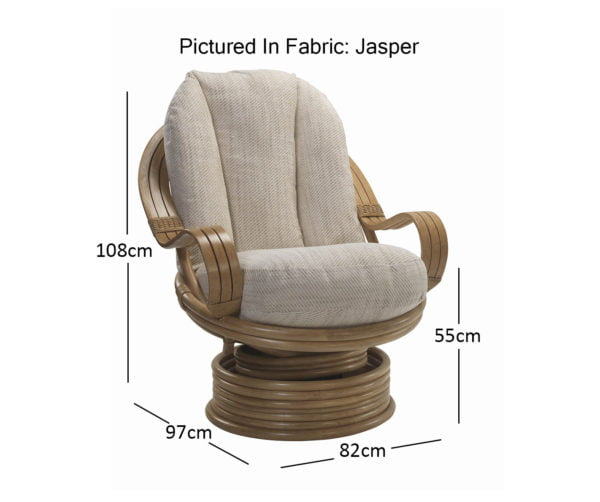 Madrid Light Oak Swivel Rocker In Jasper Dimensions