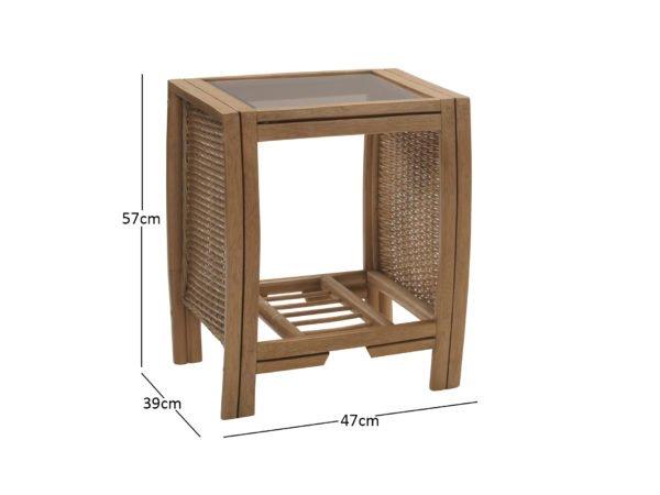 Manila Lamp Table 10843 Dimensions