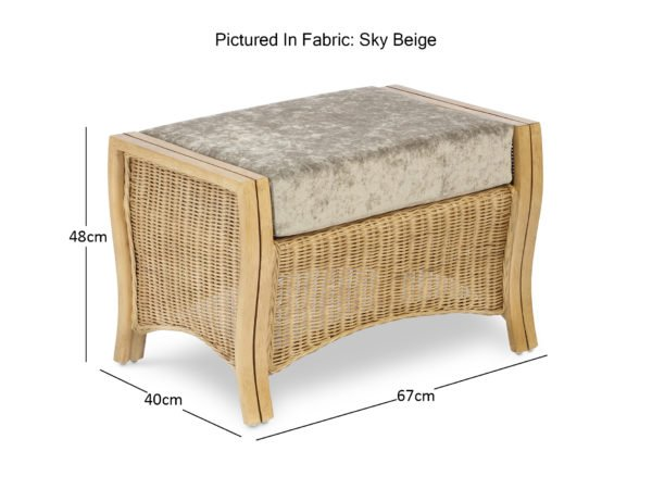 Opera Light Oak Sky Beige Footstool Dimensions