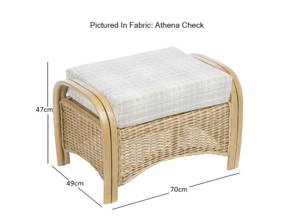 Turin Footstool Athena Dimensions