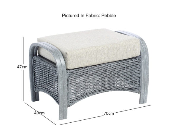 Turin Greywash Dimensions Footstool