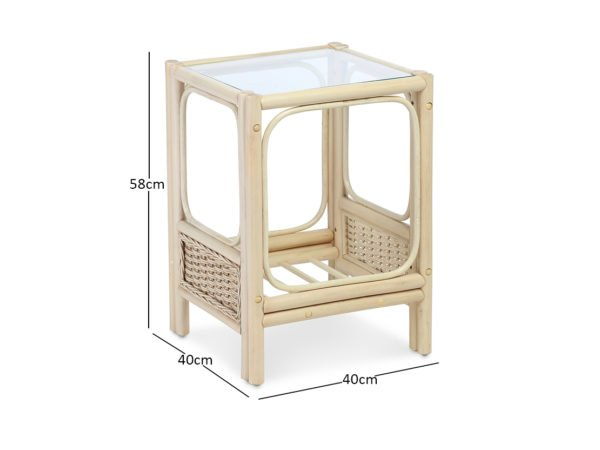 Vale Natural Wash Dove Lamp Table Dimensions