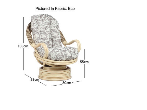 Vale Natural Wash Eco Deluxe Rocker Dimensions