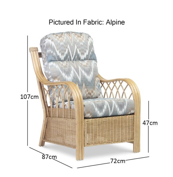 Viola Light Oak Alpine Chair Dimensions