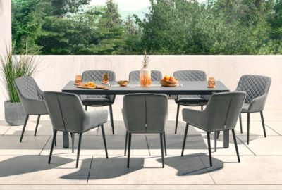 Aruba Dining Set With Fire Pit No Pool