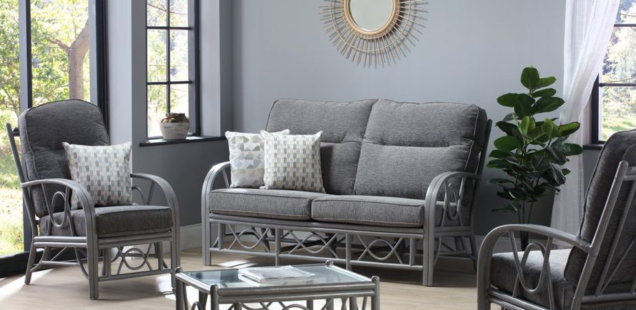 Bali Greywash Slate 3 Seater 3pc Set
