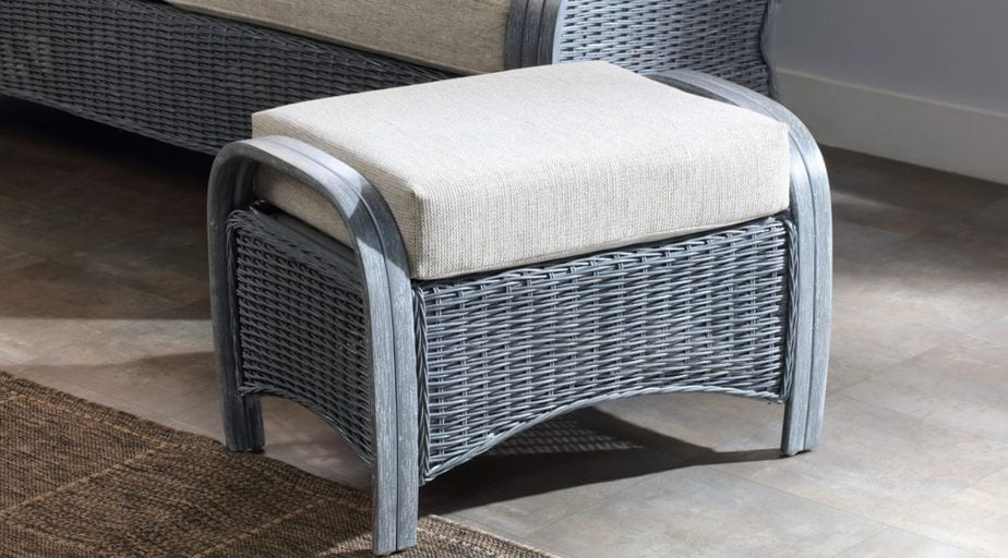 Turin Greywash Peddle Fabric Footstool
