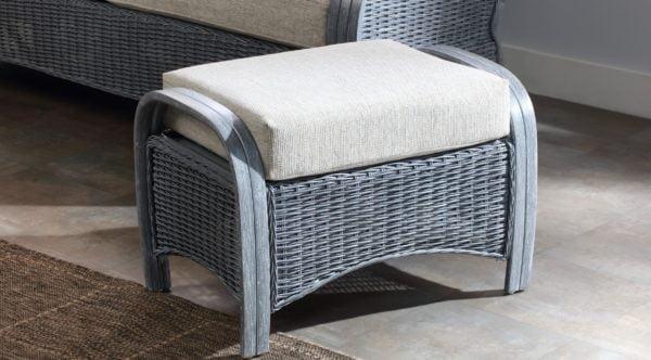 Turin Greywash Peddle Fabric Footstool