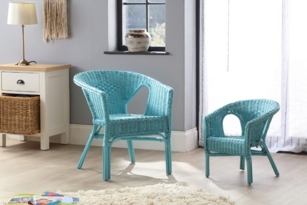 Adult And Kids Chair Blue Set