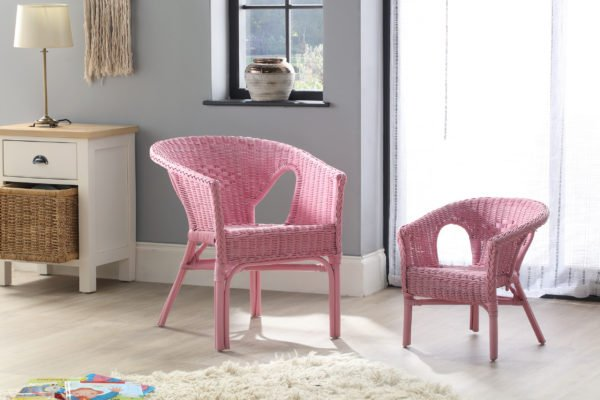 Adult And Kids Chair Pink Set