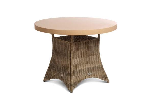 4 seater tan table
