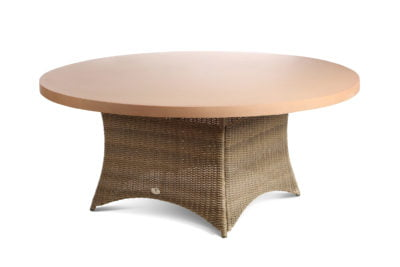 8 seater tan table