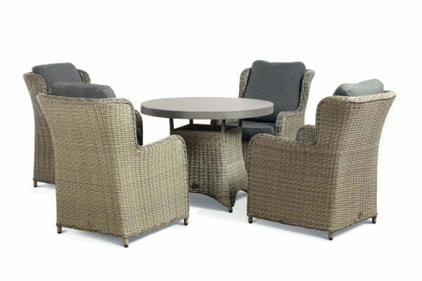 clinton grey 4 seat slate table cutout set