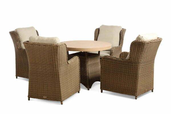 clinton mink 4 seat tan table cutout set