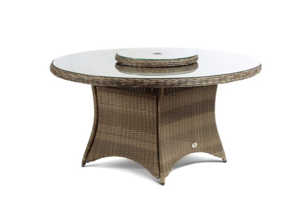 clinton or hilton 6 seater mink glass top dining table