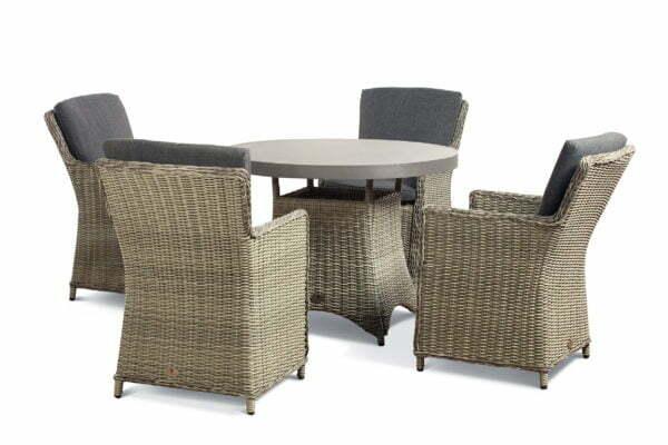 hilton grey 4 seat slate table cutout set