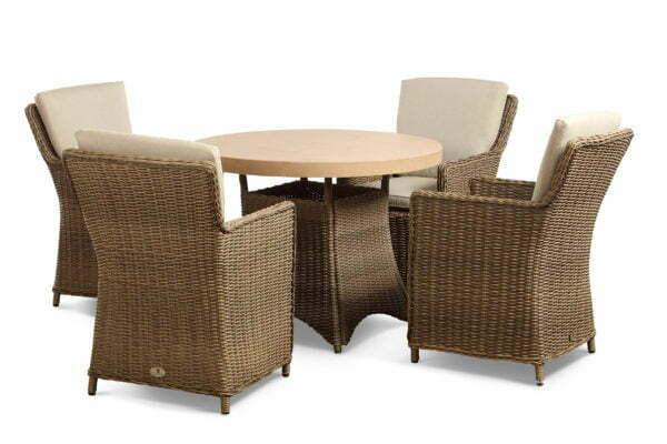 hilton mink 4 seat tan table cutout set