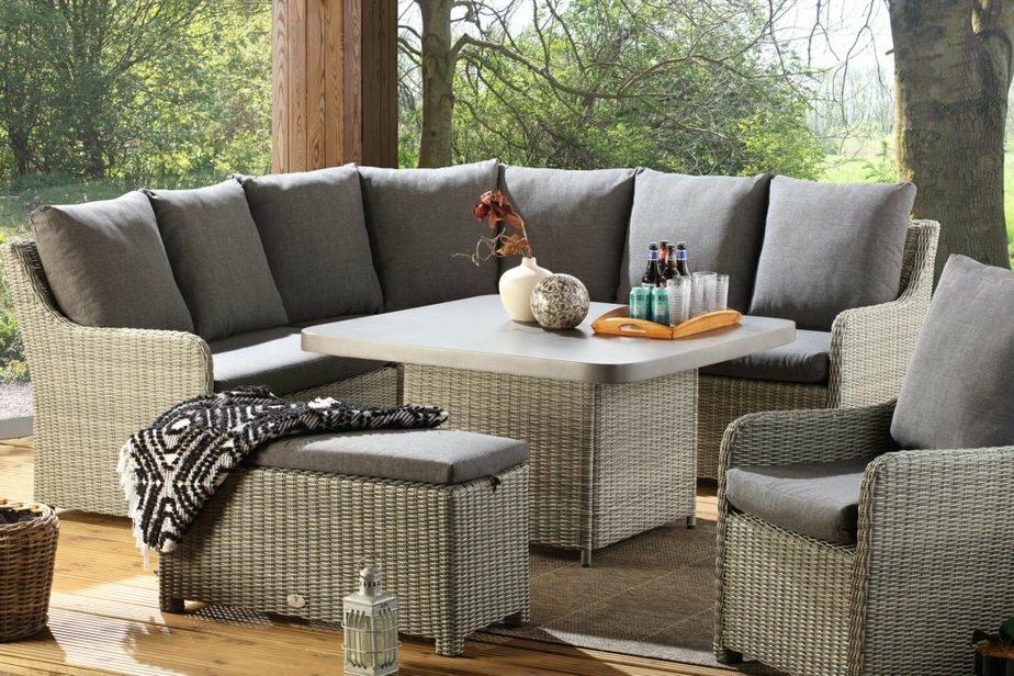 atlanta grey slate table set