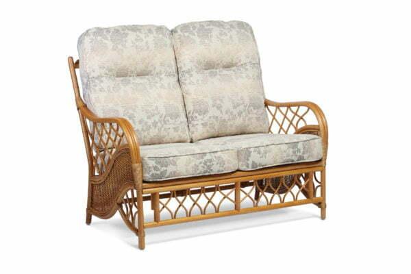 oslo walnut 2 seater sofa in flora
