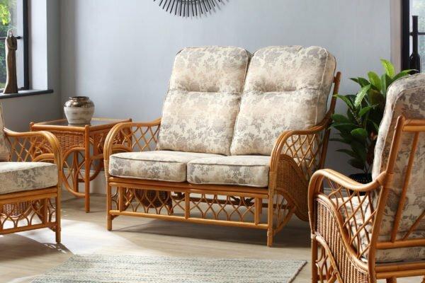 oslo walnut 2seater sofa flora set