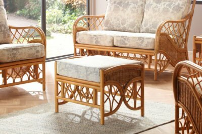oslo walnut footstool flora set