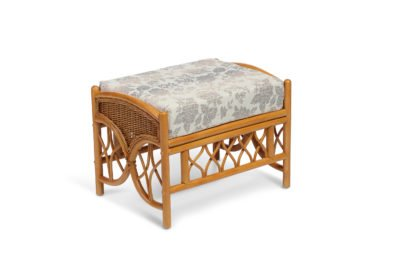 oslo walnut footstool in flora