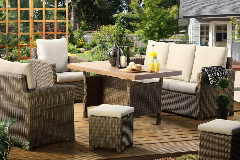 winchester mink casual dining set tan table set