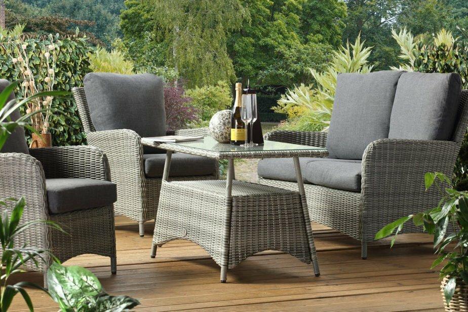colorado grey glass table set