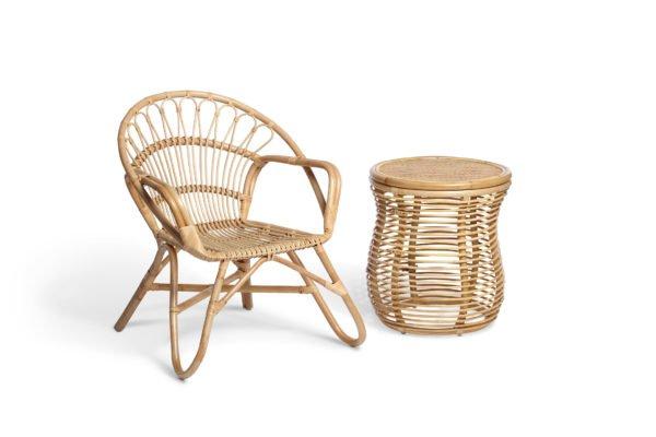 natural nordic chair and royal lamp table