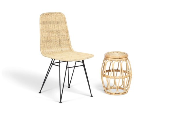 natural porto dining chair and beijing lamp table
