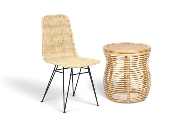 natural porto dining chair and royal lamp table